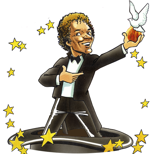 Caricature magicien Janmill